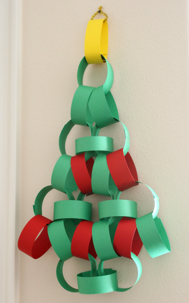 Christmas Tree Paper Chain Advent Calendar