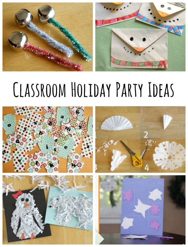 Classroom Birthday Party ~ Classroom holiday party ideas make and takes