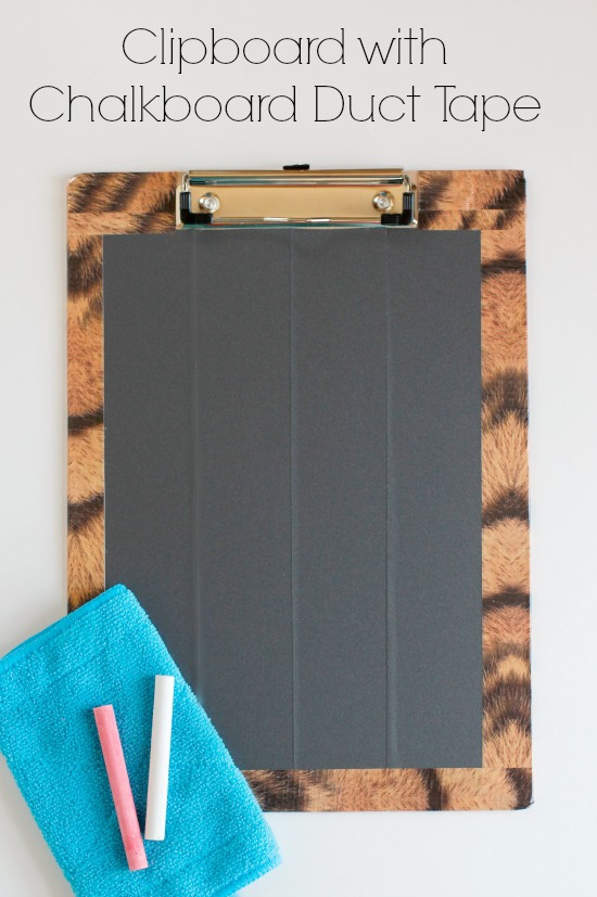 Clipboard with Chalkboard Duct Tape