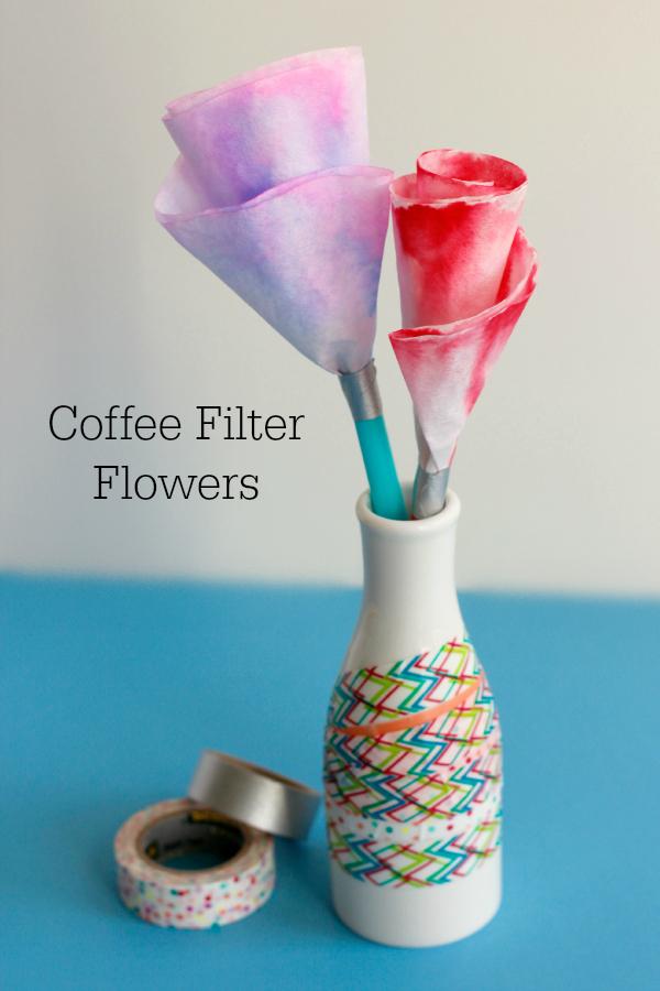 Coffee Filter Flower Bouquet Craft