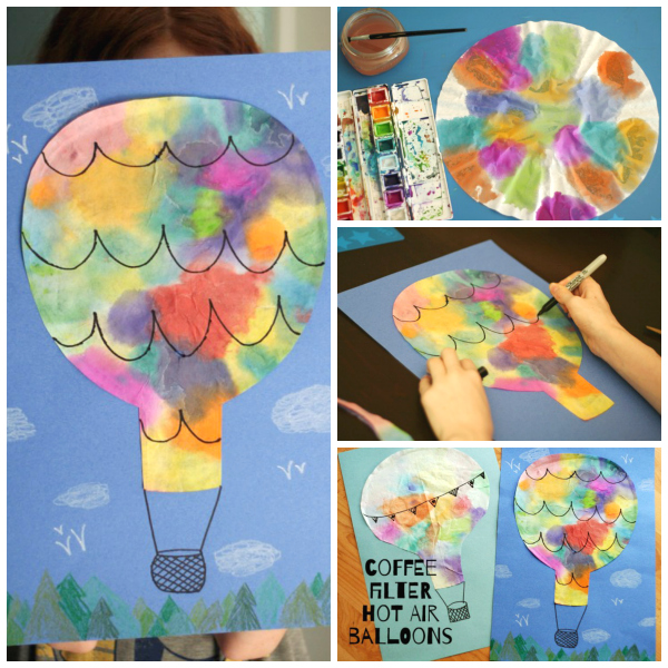 Coffee Filter Hot Air Balloons Make And Takes