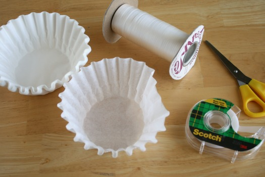 Coffee Filter Snowflake Supplies