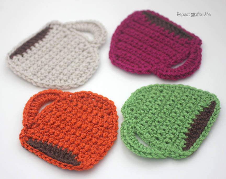Coffee Mug Shaped Crochet Coaster
