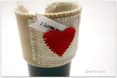 Coffee Sleeve with Heart Pocket