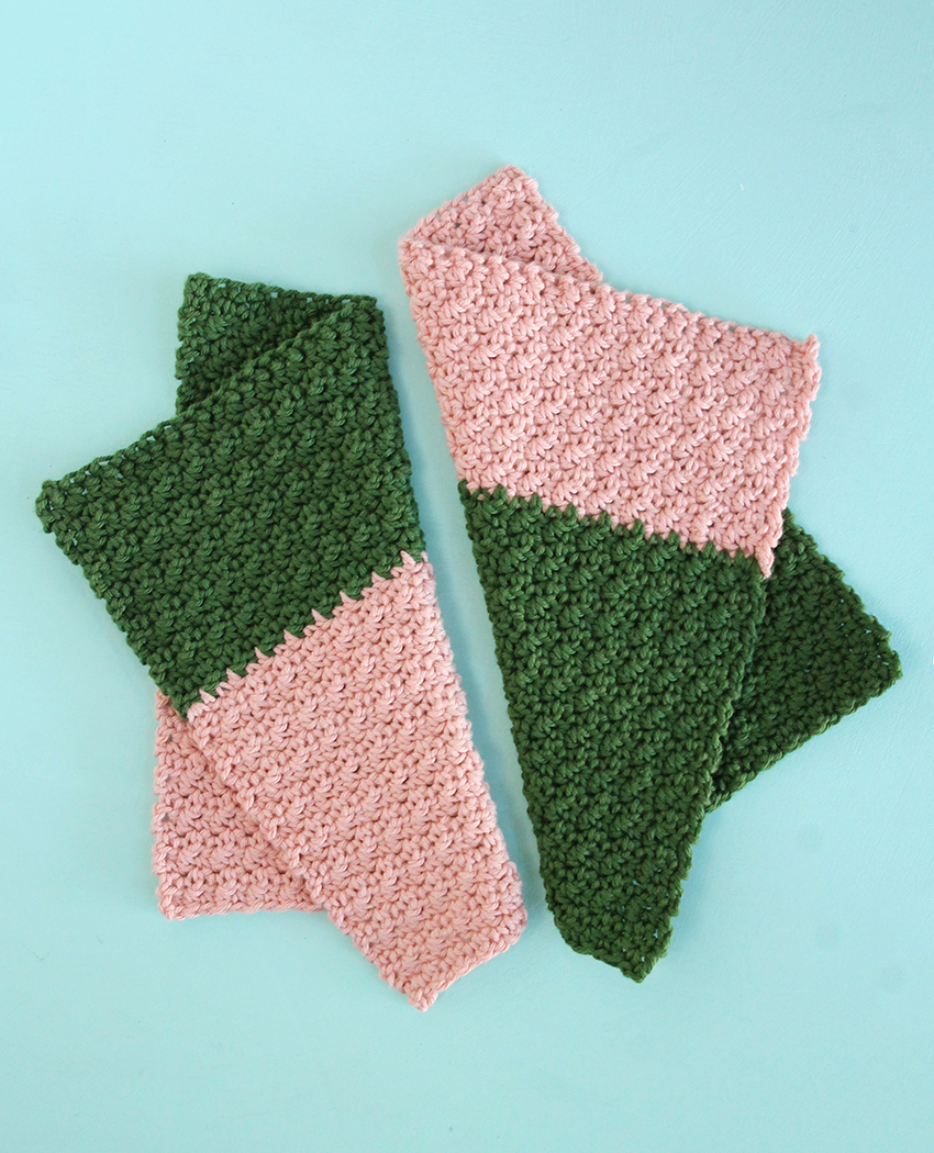 Color Block Washcloths Crochet Tutorial