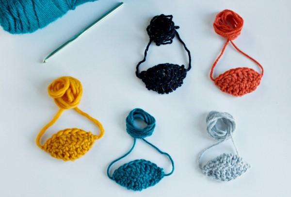 Colorful Crochet Pirate Eye Patch