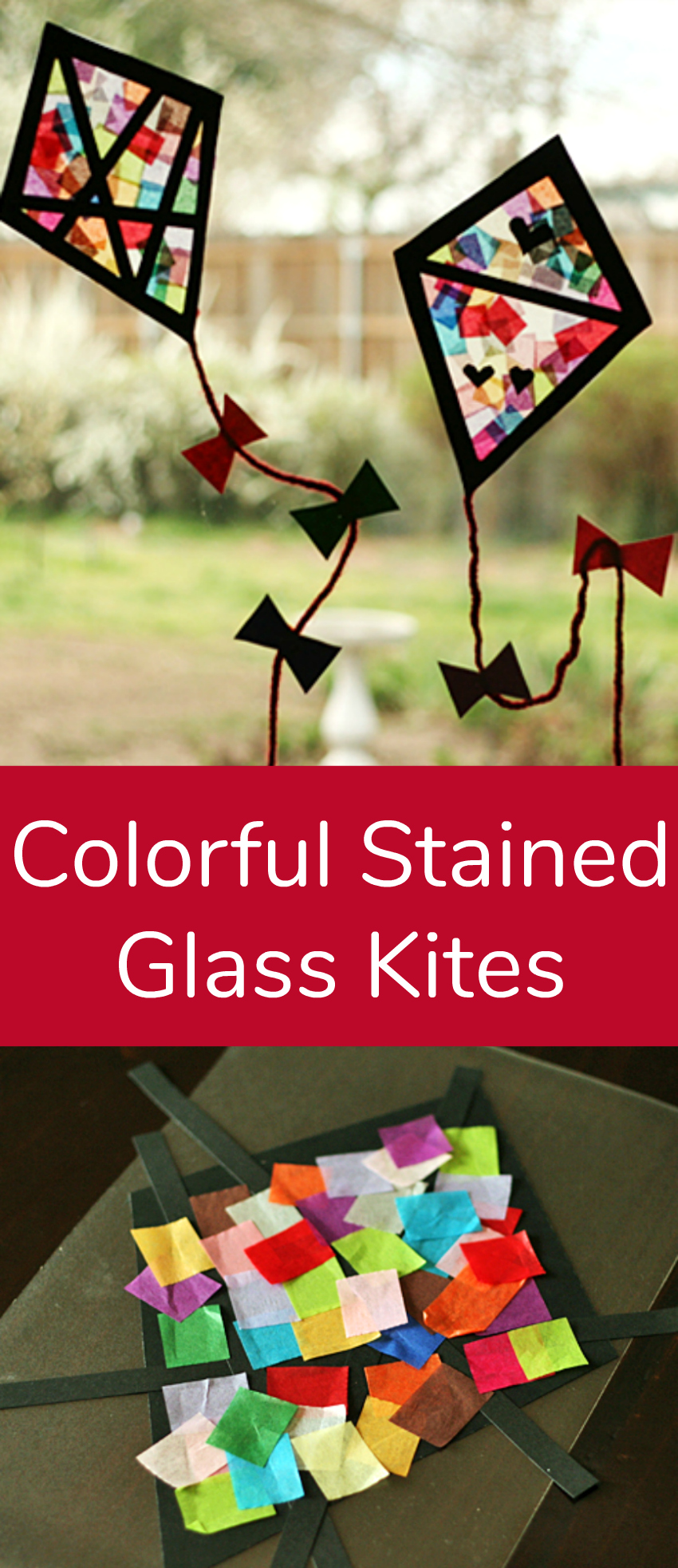 Colorful stained glass kites window display make and takes colorful stained glass kites kids craft jeuxipadfo Gallery