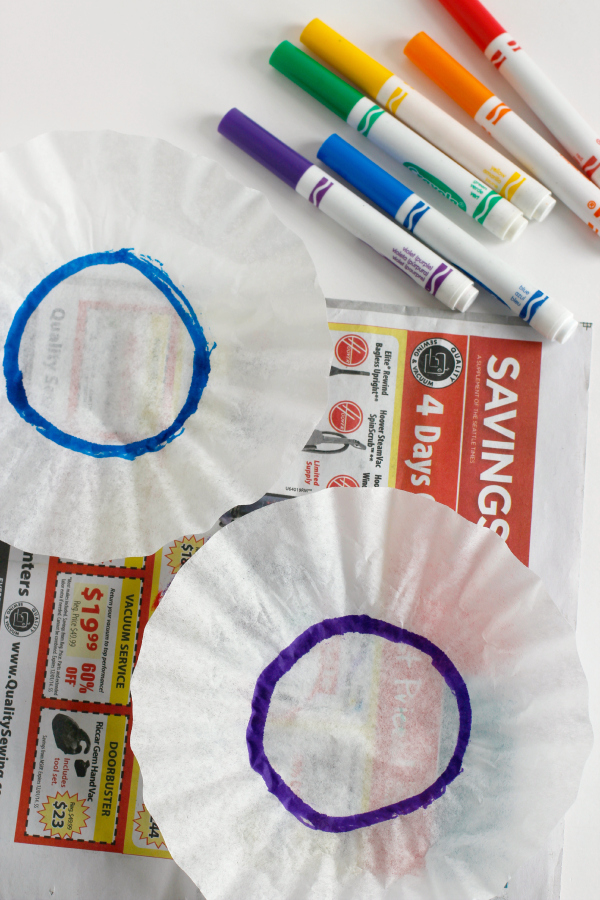 Coloring Coffee Filters with Markers