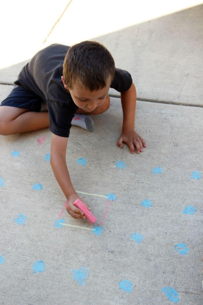 Connecting the Dots for Sidewalk Chalk Games
