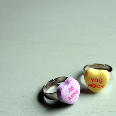 Conversation Heart Rings