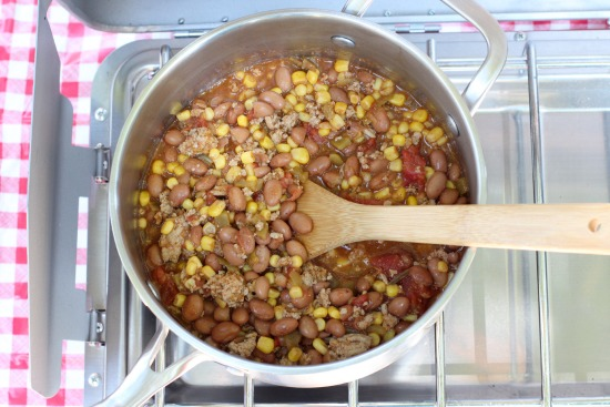 Cook up turkey chili for camping