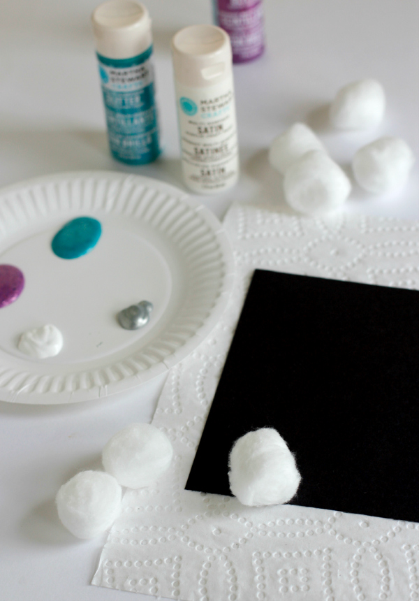 Cotton Ball Painting with Kids