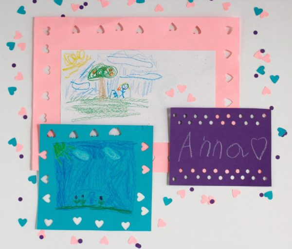 Craft a Paper Punch Picture Frame | Make and Takes