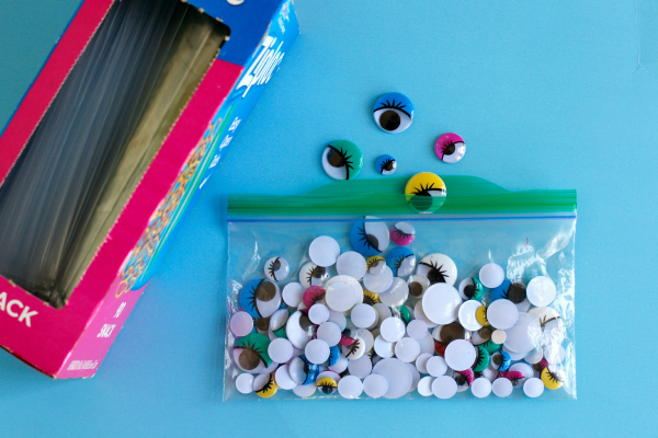 Craft Supply Storage and Organization with Ziploc