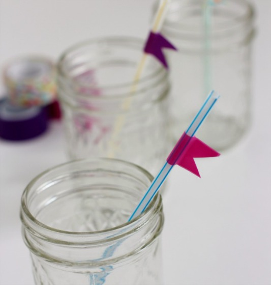 Craft Washi Tape Flags for Straws
