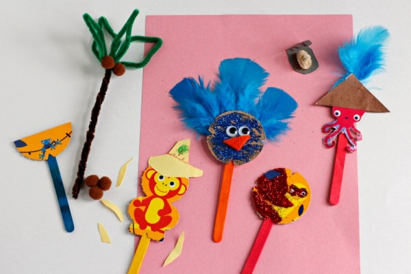 Crafting Cereal Box Puppets