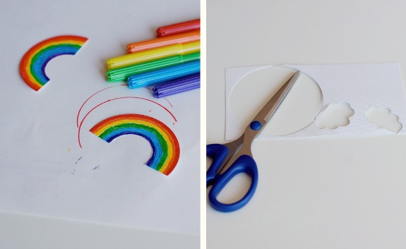 Crafting Rainbow St. Patrick's Day cupcake toppers