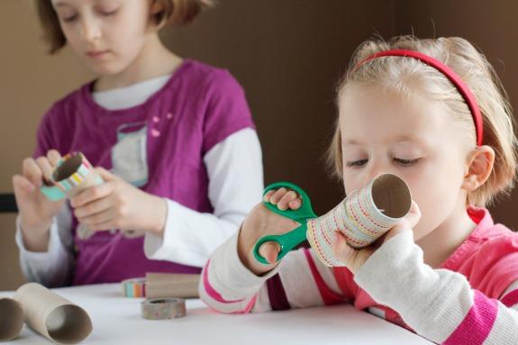 Crafting Washi Tape Paper Tubes