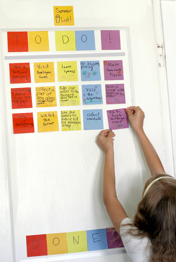 Crafting a Summer Bucket List with Post-it Notes