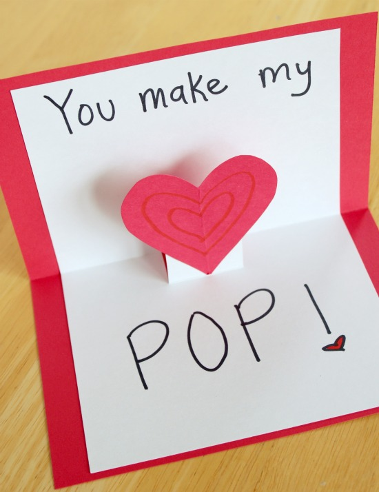 Pop up cards for your valentine make and takes for What to put on a valentines card