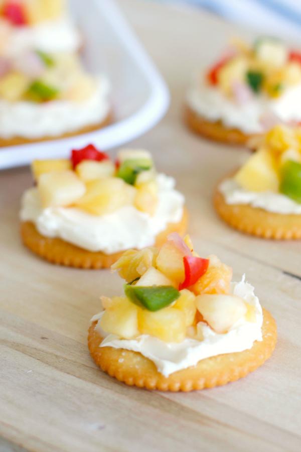 Cream Cheese & Mango Salsa Appetizer