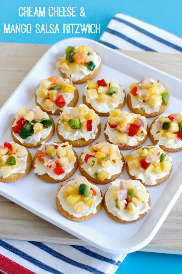 Cream Cheese & Mango Salsa Snacks