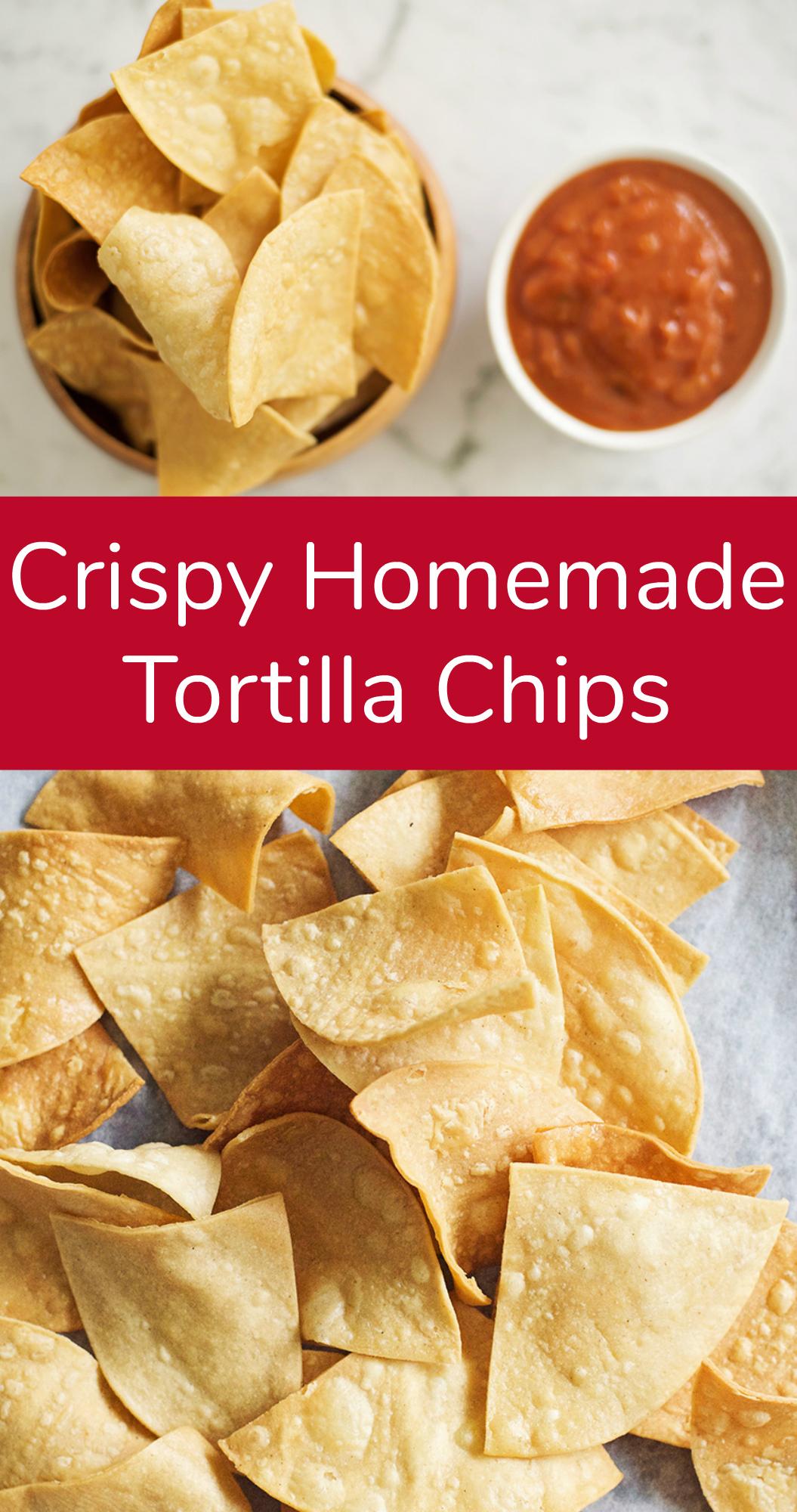 Crispy Homemade Tortilla Chips Appetizer