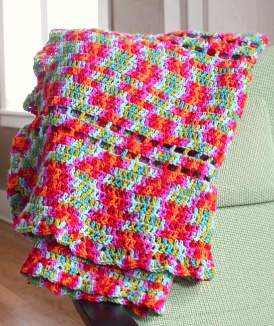Crochet Afghan Rainbow Blanket