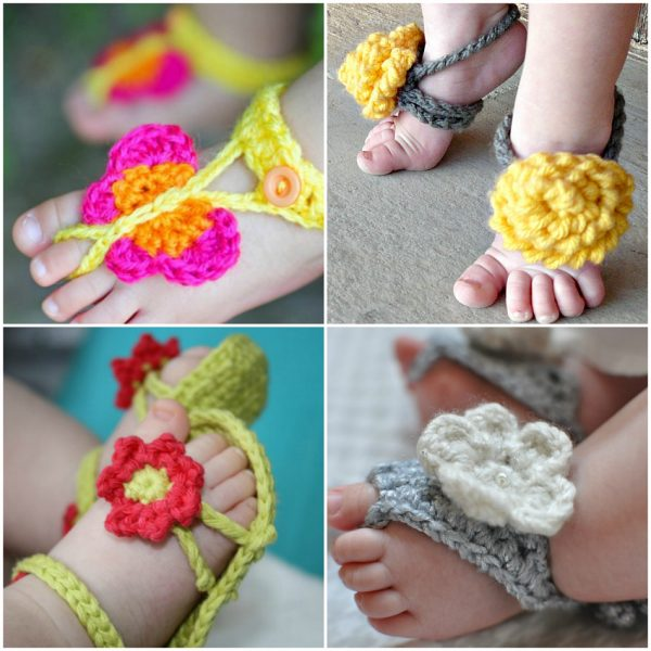 15 Cute Crochet Baby Sandals Begging To Be Made Make And Takes
