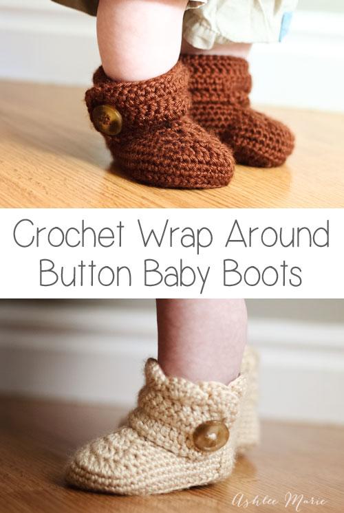Crochet Booties from @Ashleemarie.com