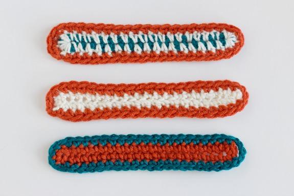 Crochet Bracelet Styles with Yarn @makeandtakes.com #crochetaday