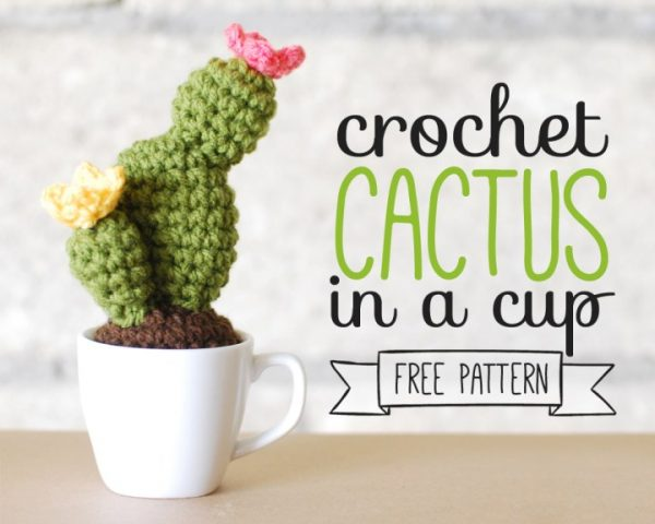 Crochet Cactus In A Cup