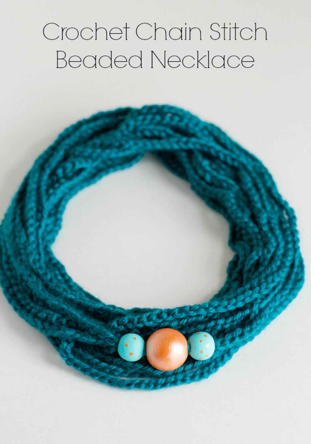 Crochet Chain Stitch Beaded Necklaces