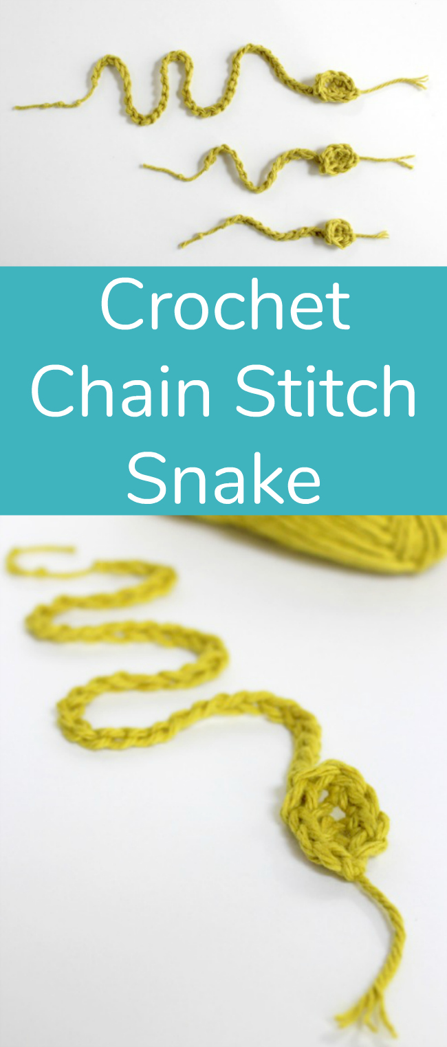 Crochet Chain Stitch Snake to Make
