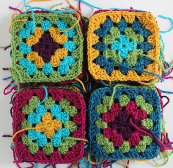 how to join crochet squares together to make a blanket