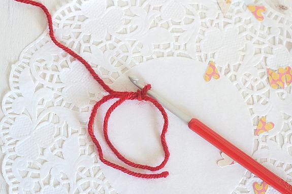 Crochet Heart Tutorial with Printable Card