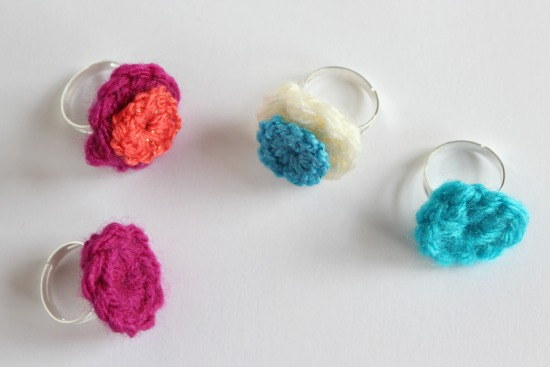 Crochet Mini Circle Rings 3