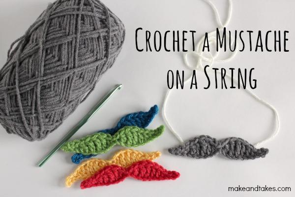 Crochet Mustache Pattern @makeandtakes.com