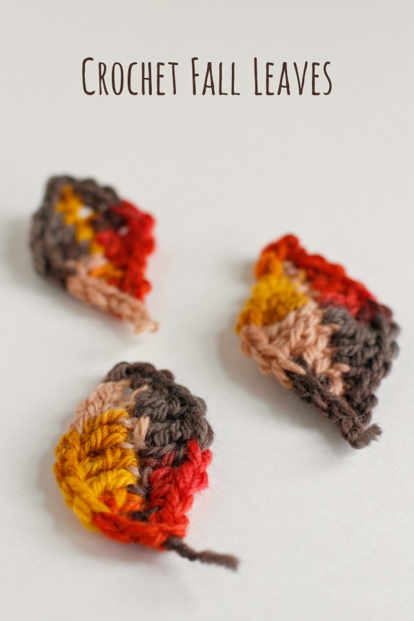 Crochet Pattern Fall Leaves