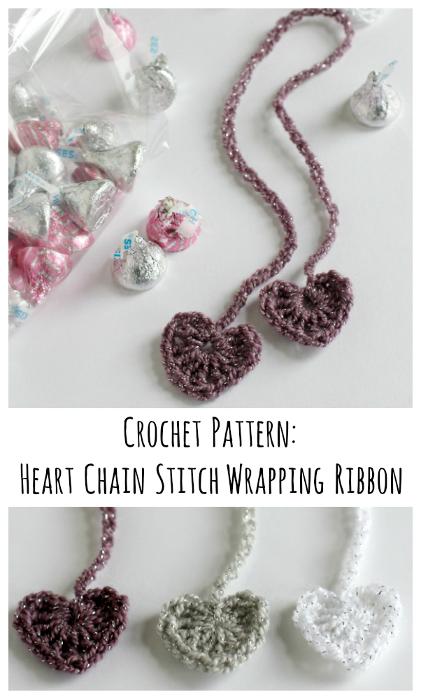... your treats and add your new heart chain stitch ribbon to wrap it up