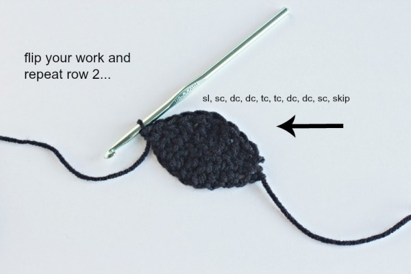 Crochet Pattern for a Pirate Eye Patch Instructions