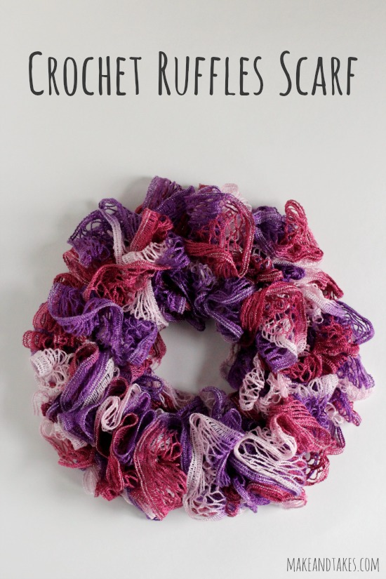 Crochet A Scarf : Crochet-A-Day: Crochet Ruffles Scarf Pattern Make and Takes