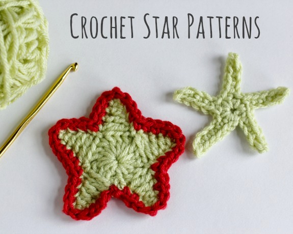 Crochet Star Patterns @makeandtakes.com #crochetaday