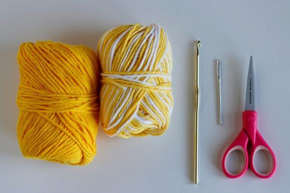 Crochet Sun Coasters Supplies