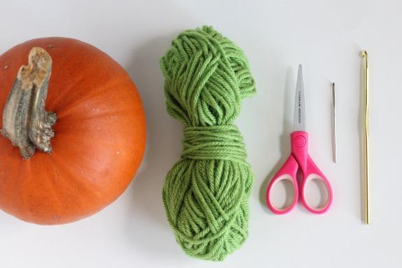 Crochet Supplies for Pumpkin Stem Cozy