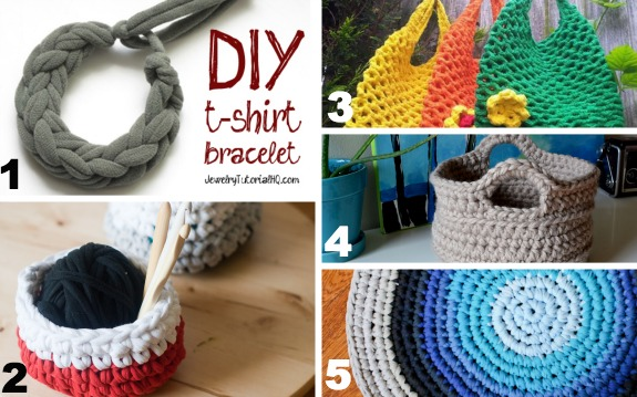 Crochet T-shirt Yarn Projects