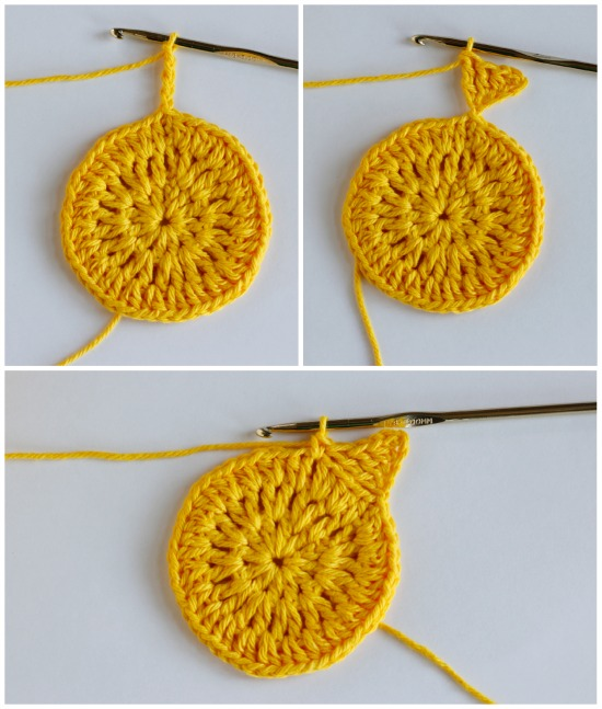 Crochet Triangles for Sun Coasters