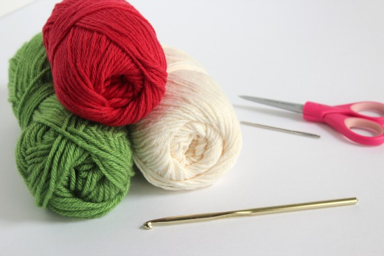 Crochet Watermelon Yarn Supplies