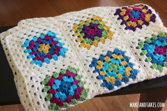 Patching Up My Granny Square Blanket | Make and Takes : crochet quilt squares - Adamdwight.com