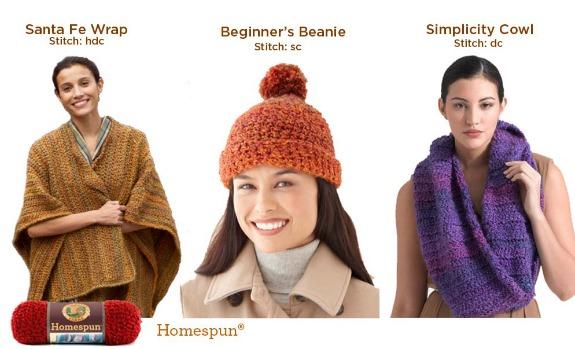 CrochetADay Homespun Lion Brand Yarn